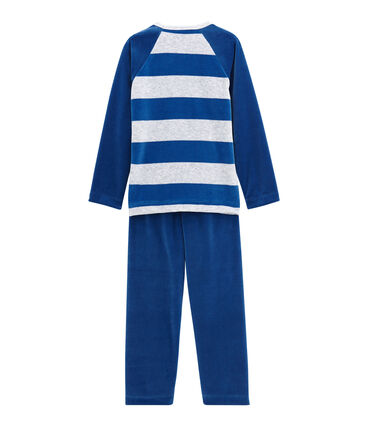 Pigiama per bambino blu Limoges / grigio Poussiere