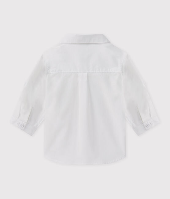 Camicia bebè maschio da cerimonia bianco Ecume