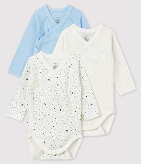 Confezione da 3 body nascita a maniche lunghe bebè lotto .
