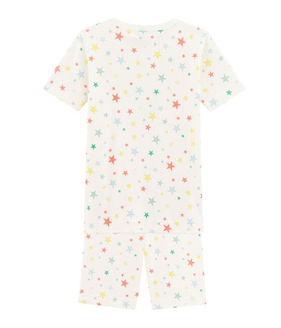 Pigiama corto bambino modello molto aderente bianco Marshmallow / bianco Multico