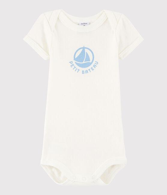 Body a manica corta bebè unisex bianco Marshmallow