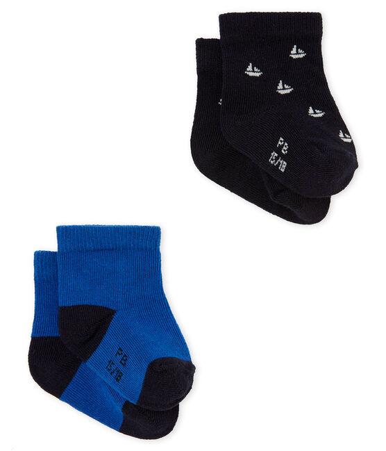 Lotto di due paia di calze per bebé maschio lotto .
