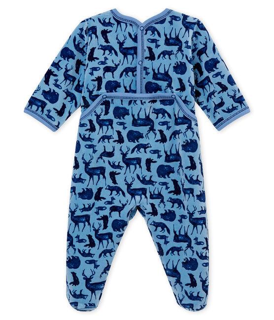 Tutina per bebé maschio blu Alaska / bianco Multico