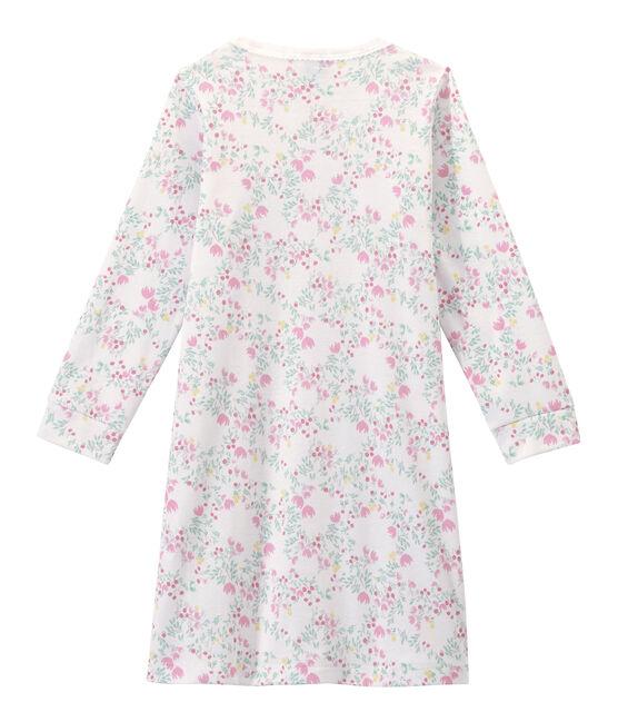 Camicia da notte bambina maniche lunghe stampata bianco Ecume / bianco Multico