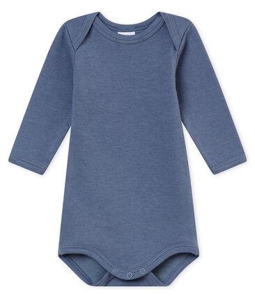 Body a maniche lunghe bebé maschio blu Turquin