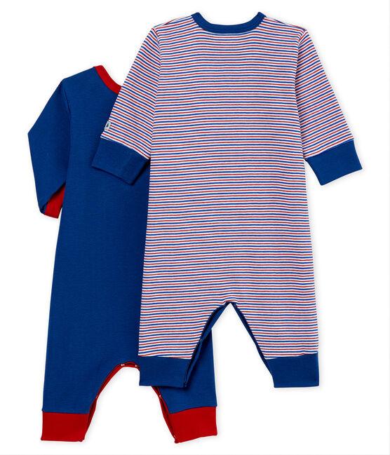 Duo tutina pigiama senza piedi bambino a costine lotto .