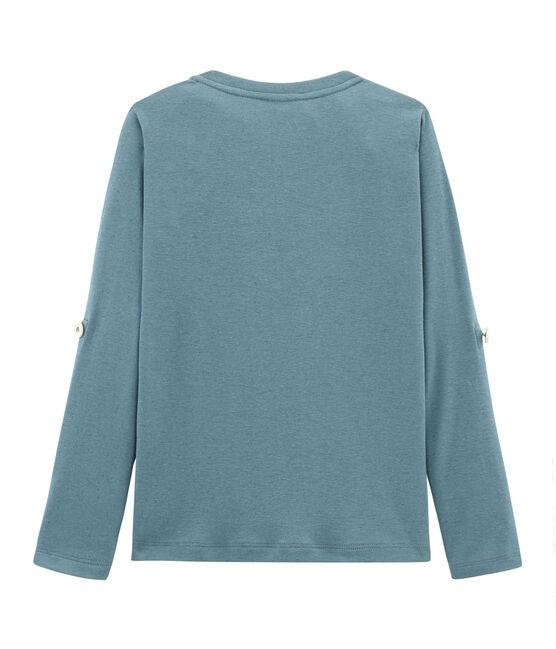 T-shirt maniche lunghe bambino blu Fontaine
