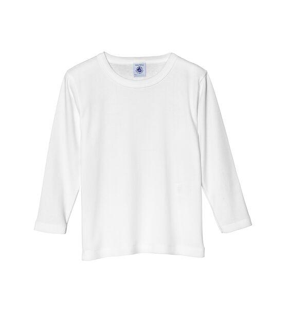 T-shirt maniche lunghe tinta unita bianco Ecume