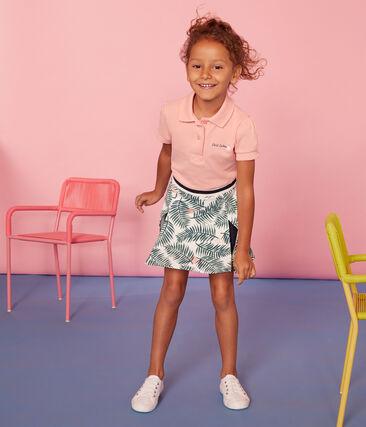 Polo manica corta bambina rosa Rosako