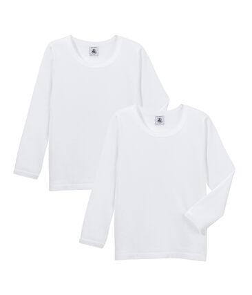 Duo t-shirt maniche lunghe ragazza