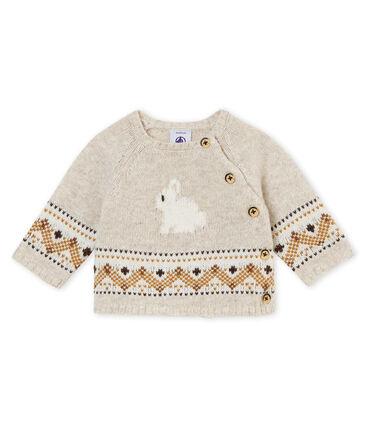 Cardigan tricot jacquard per bebé maschio