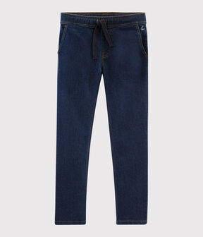 Pantaloni in molleton denim bambino blu Denim Bleu Fonce