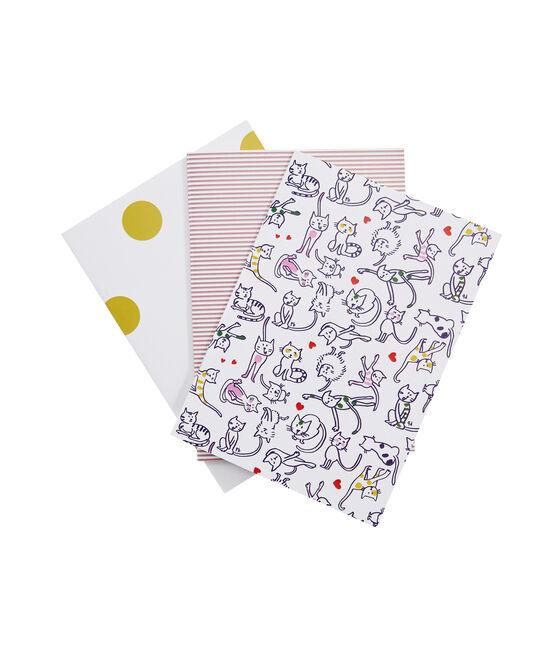 Confezione da tre carnet bianco Marshmallow / bianco Multico