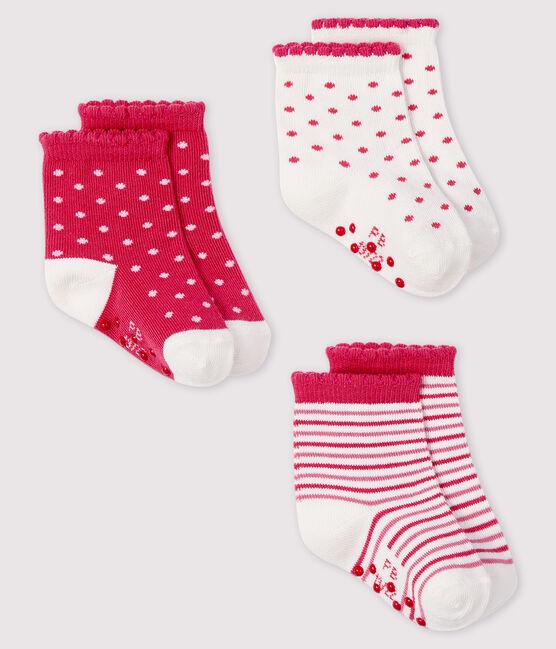 Confezione da 3 paia di calzini bebè lotto .