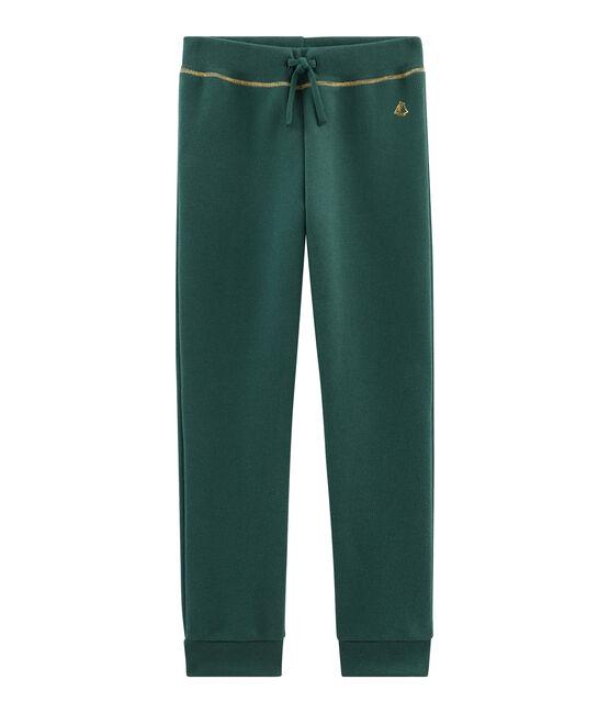 Pantalone in molleton bambina verde Sousbois