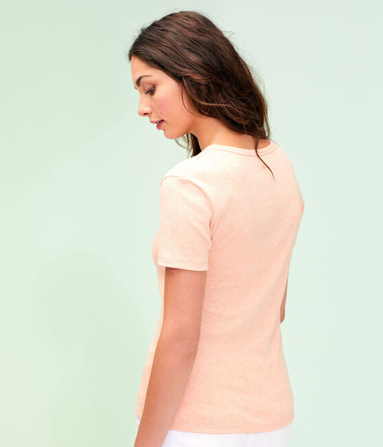 T-shirt iconica donna rosa Aster Chine