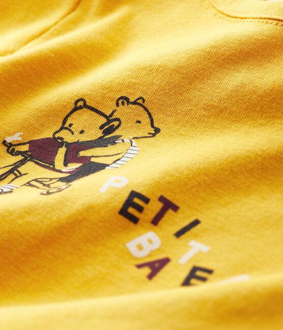 T-shirt bebè maschio giallo Boudor