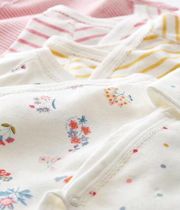 Lotto di 5 bodies nascita a maniche lunghe per bebé femmina