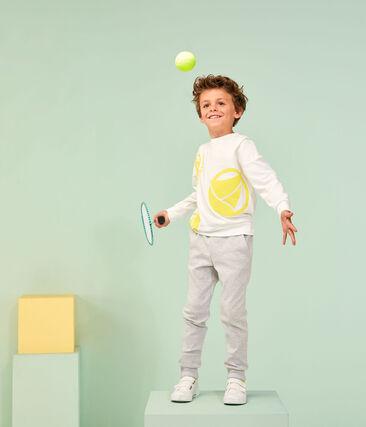 Felpa bambino - bambina bianco Marshmallow / giallo Eblouis