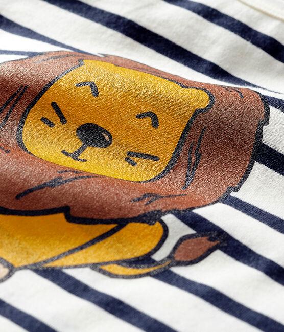 Marinière ideata in collaborazione per bebè unisex beige Coquille / blu Smoking