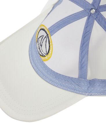 Cappellino in twill bambino bianco Marshmallow