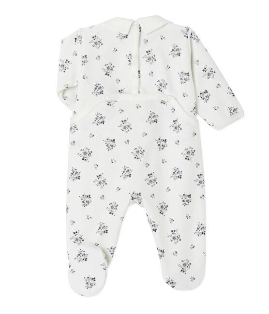 Tutina per bebé femmina stampata bianco Lait / bianco Multico