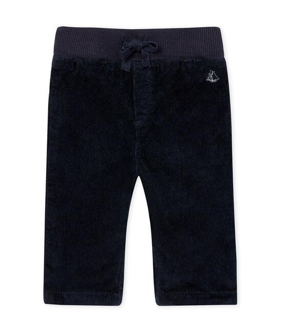 Pantalone per bebé maschio in doppio velluto stretch SMOKING