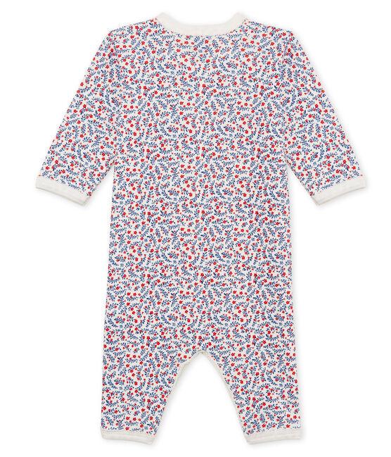 Tutina pigiama bambina a costine bianco Marshmallow / bianco Multico