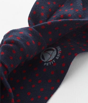 Fascia per capelli bambina con fiocco blu Smoking / rosso Terkuit