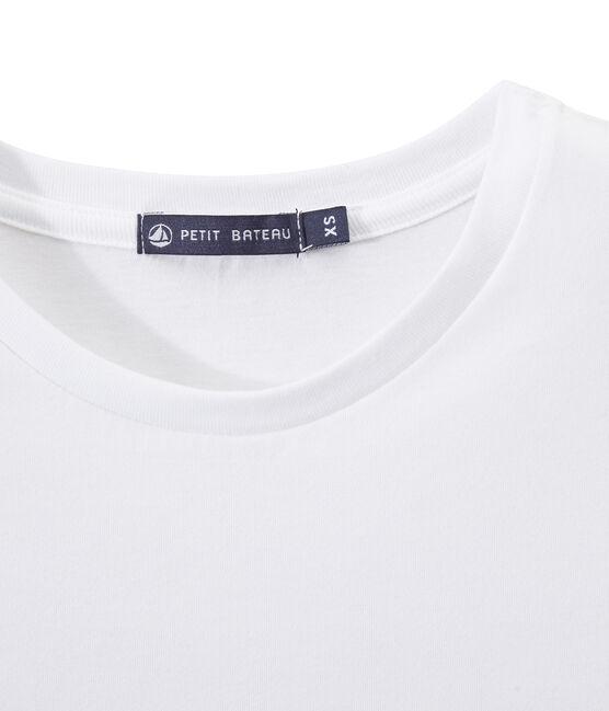 T-shirt donna INDISPENSABLE in jersey leggero bianco Ecume