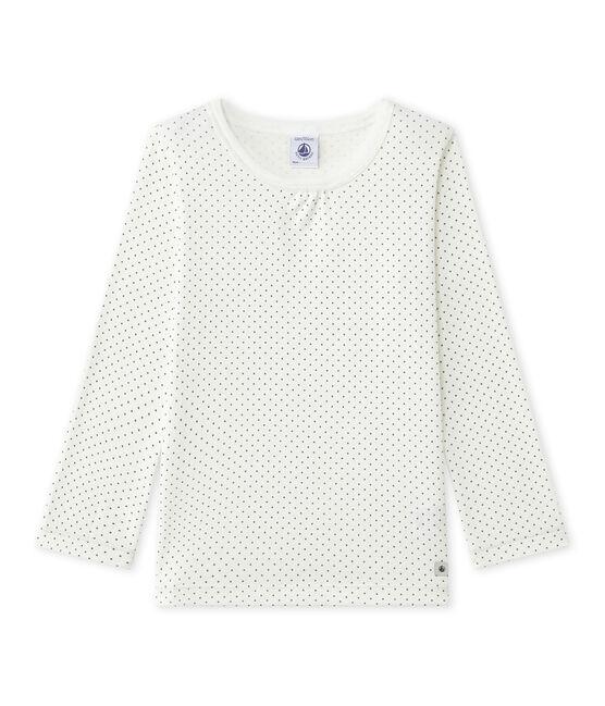 Tee-shirt de pyjama fille Mix & Match bianco Lait / grigio Maki