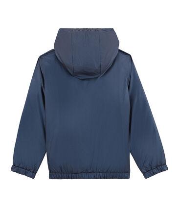Giacca a vento reversibile per bambina blu Smoking