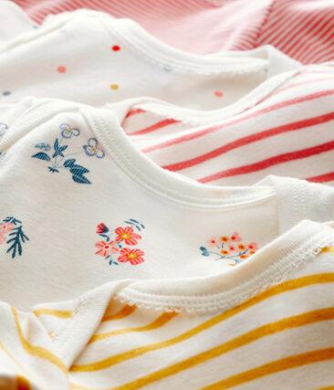 Lotto di 5 bodies a maniche lunghe per bebé femmina