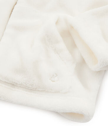 Felpa in pile arricciato da bambina bianco Marshmallow