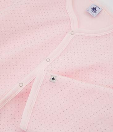 Tutina da bambina in pile rosa Vienne / grigio Mistigri