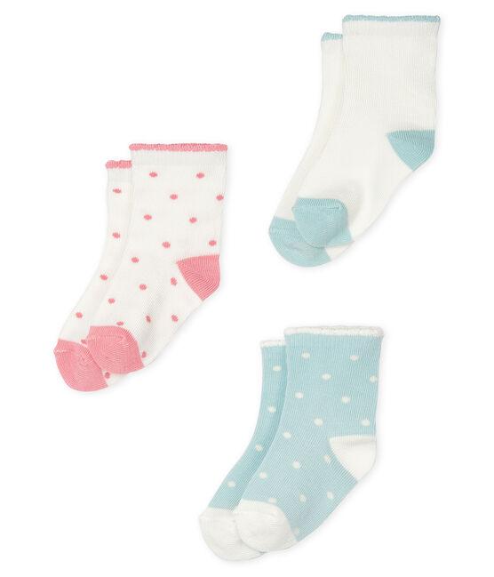 Set di 3 paia di calzini bebè bambina lotto .
