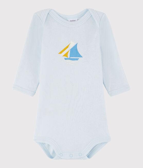 Body manica lunga bebè maschietto blu Fraicheur
