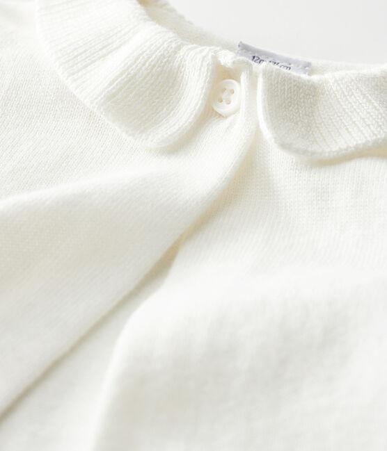 Bolero bebè femmina bianco Marshmallow