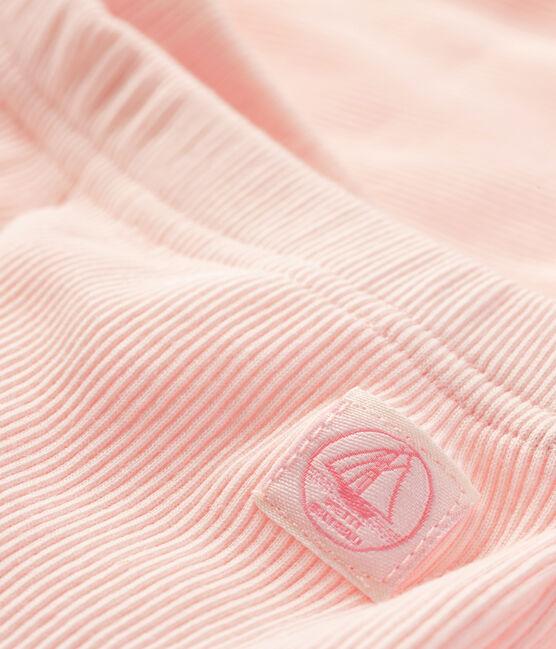 Leggings bebè rosa Fleur