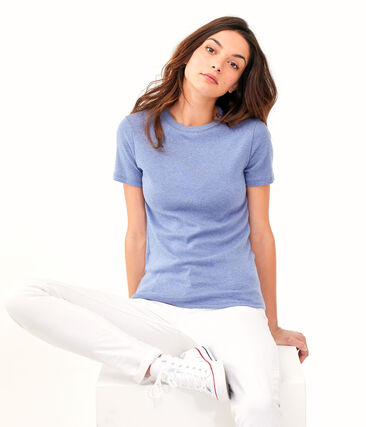 T-shirt iconica donna blu Captain Chine