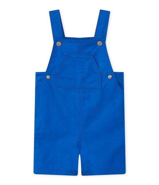 Salopette corta per bebè maschio blu Perse