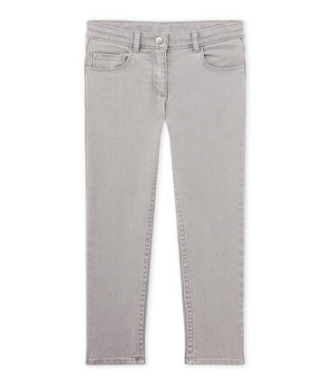 Pantaloni bambino in jeans grigio