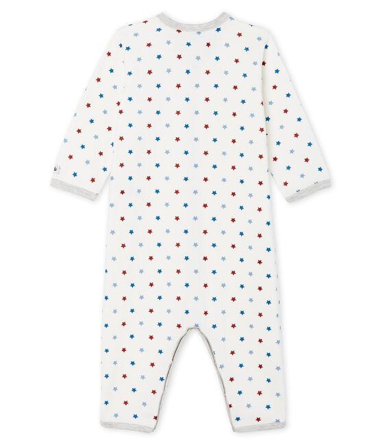 Tutina pigiama senza piedi in tubique da neonato bianco Marshmallow / bianco Multico