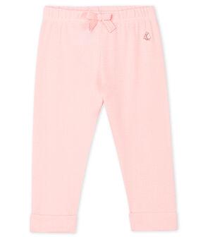 Pantalone bebè femmina in maglia a tinta unita MINOIS
