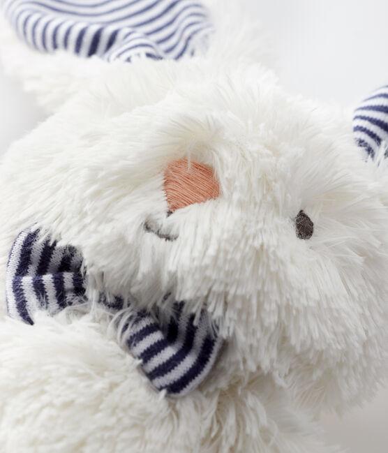 Doudou coniglio con papillon in sherpa bianco Marshmallow