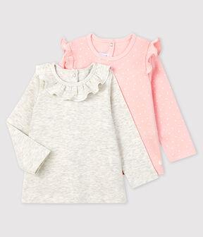 Confezione da 2 bluse bebè femmina lotto .