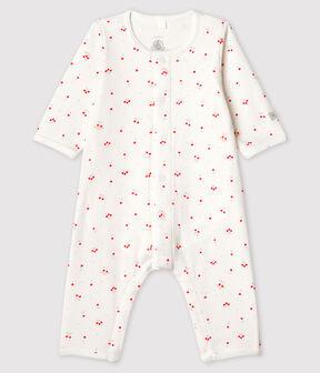 Body-pigiama senza piedi grigio a stelle bebè in cotone biologico bianco Marshmallow / bianco Multico