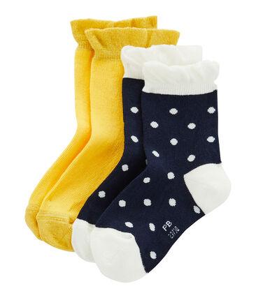 Confezione da 2 paia di calzini bambina lotto .