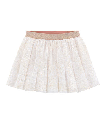 Gonna bambina bianco Marshmallow / rosa Copper