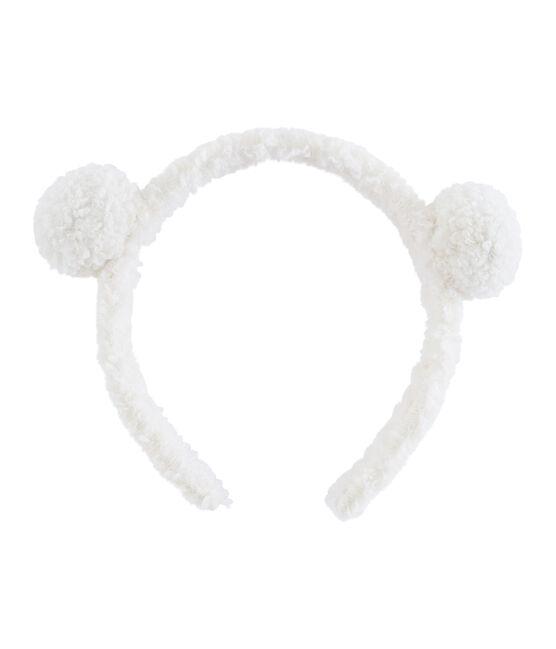 Cerchietto bambina bianco Marshmallow